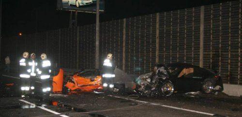 Жуткая авария Porsche 911 Techart и Lamborghini Murcielago - фото 6