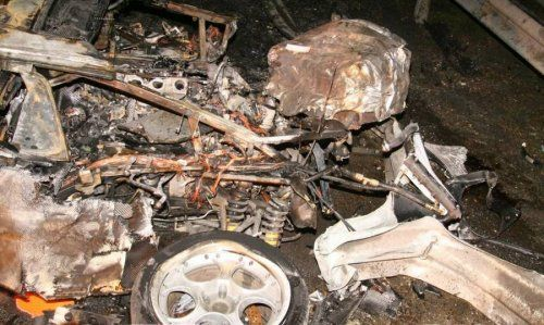 Жуткая авария Porsche 911 Techart и Lamborghini Murcielago - фото 11