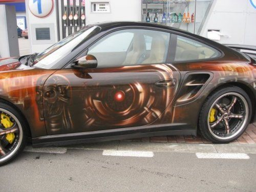 Porsche 911 Turbo-9ff 800 л.с в аэрографии - фото 4