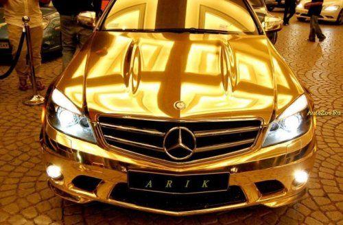 Позолоченный Mercedes C63 - фото 5