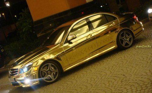 Позолоченный Mercedes C63 - фото 9