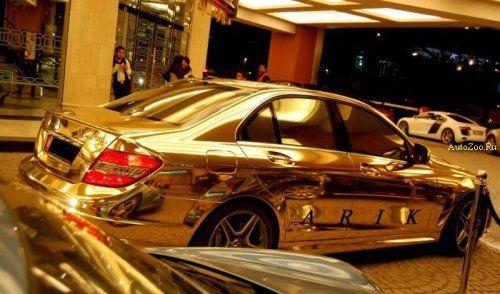 Позолоченный Mercedes C63 - фото 1