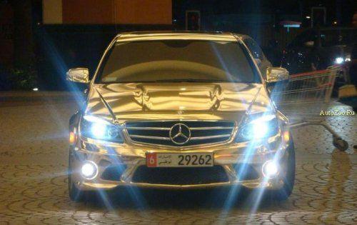 Позолоченный Mercedes C63 - фото 8