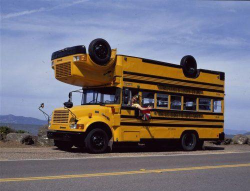 Необычный двухэтажный автобус - фото 6