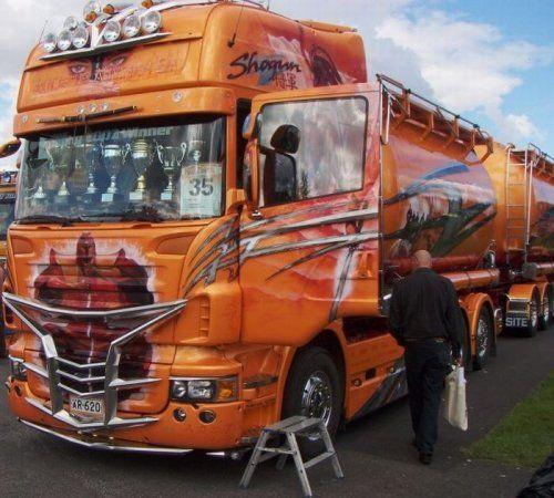 Потрясающее финское шоу грузовиков 2009 - фото 13