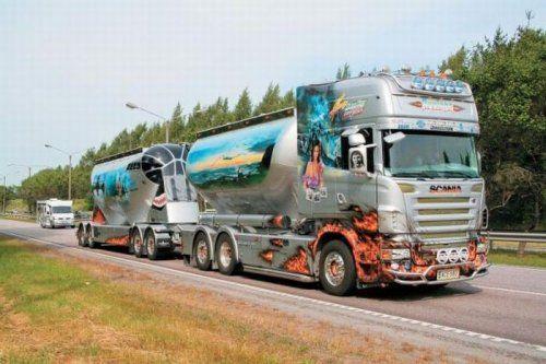 Потрясающее финское шоу грузовиков 2009 - фото 16