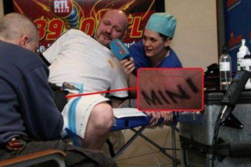 Татуировка «MINI» на мужском половом органе: а на что ты готов ради халявной тачки? - фото 1