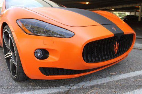Maserati GranTurismo S затянули в оранжевую пленку в DBX - фото 21