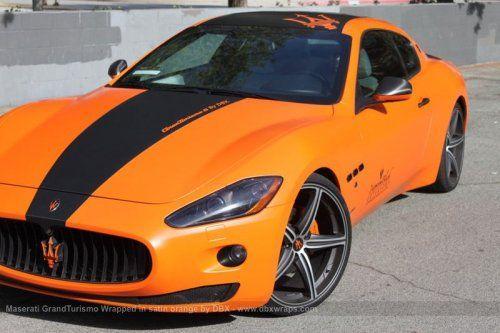 Maserati GranTurismo S затянули в оранжевую пленку в DBX - фото 13