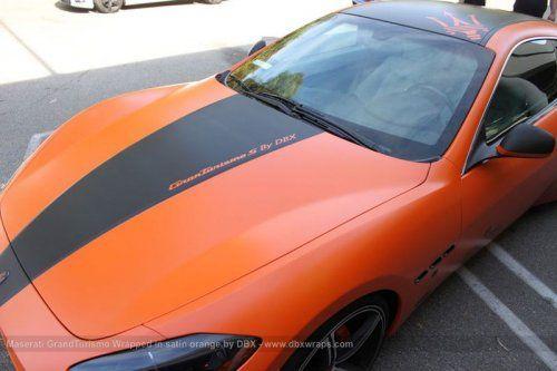 Maserati GranTurismo S затянули в оранжевую пленку в DBX - фото 4