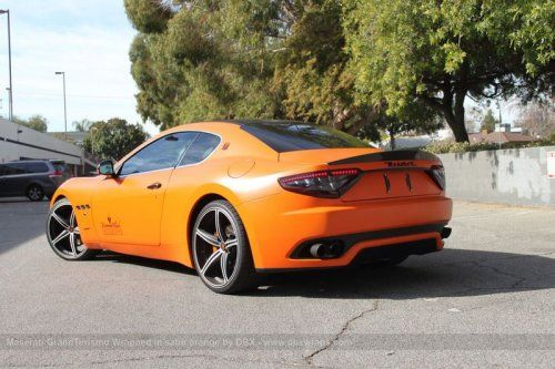 Maserati GranTurismo S затянули в оранжевую пленку в DBX - фото 5