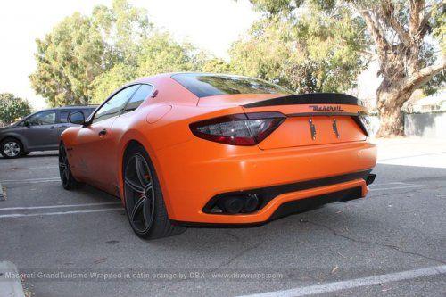 Maserati GranTurismo S затянули в оранжевую пленку в DBX - фото 22
