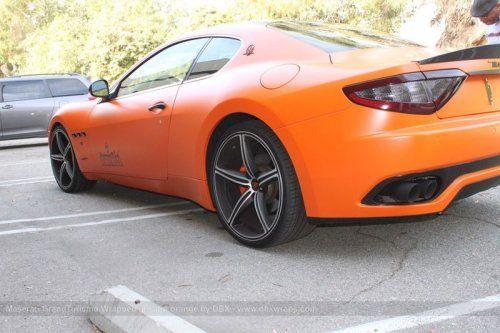 Maserati GranTurismo S затянули в оранжевую пленку в DBX - фото 7