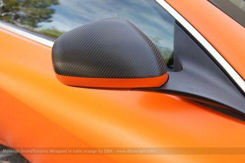 Maserati GranTurismo S затянули в оранжевую пленку в DBX - фото 20
