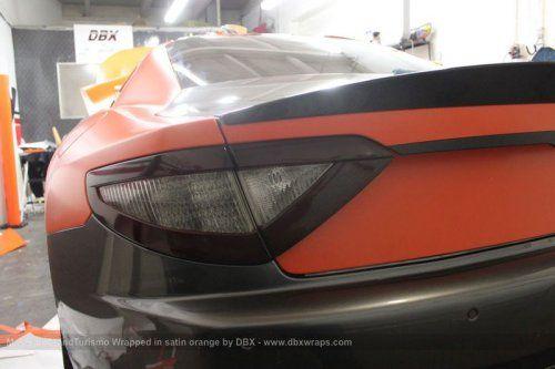 Maserati GranTurismo S затянули в оранжевую пленку в DBX - фото 2