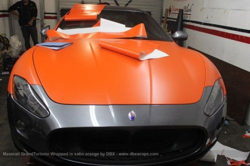 Maserati GranTurismo S затянули в оранжевую пленку в DBX - фото 10