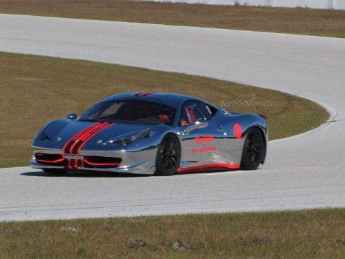 Хромированная Ferrari 458 Challenge - фото 5