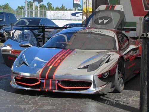 Хромированная Ferrari 458 Challenge - фото 12