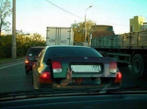 Подборка неудачников и смешных ситуаций на дороге - фото 3