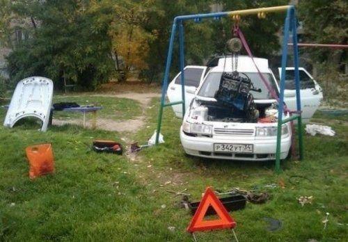 Подборка неудачников и смешных ситуаций на дороге - фото 11