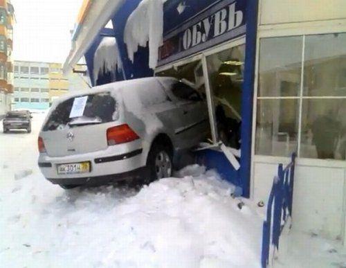 Подборка неудачников и смешных ситуаций на дороге - фото 21