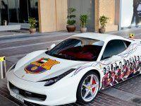 Ferrari 458 Italia настоящего фаната футбольной Барселоны - фото 10