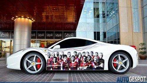 Ferrari 458 Italia настоящего фаната футбольной Барселоны - фото 11