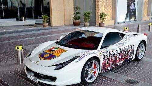 Ferrari 458 Italia настоящего фаната футбольной Барселоны - фото 7