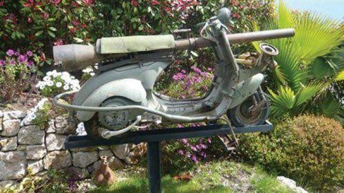 Огнебойный мотороллер Vespa 1959 года выпуска - фото 2