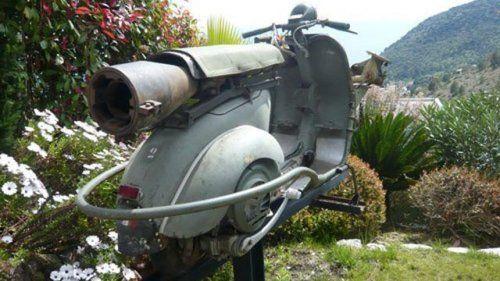 Огнебойный мотороллер Vespa 1959 года выпуска - фото 3