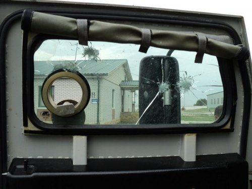 Обстрелянный в Чечне военный автомобиль Тигр - фото 7