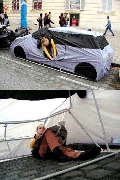 Необычная палатка-автомобиль - фото 1