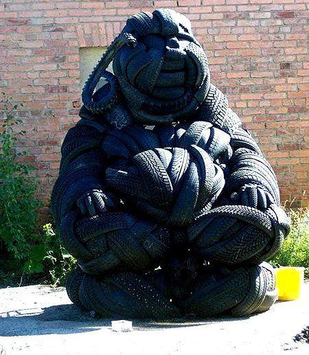 Поделки из покрышек Michelin - фото 2